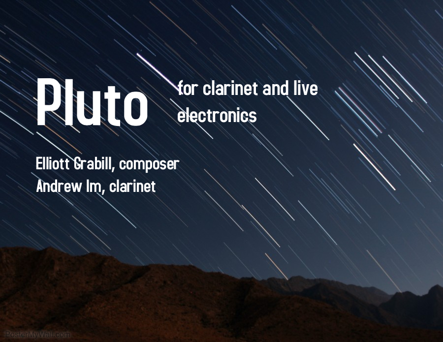 Pluto simple poster